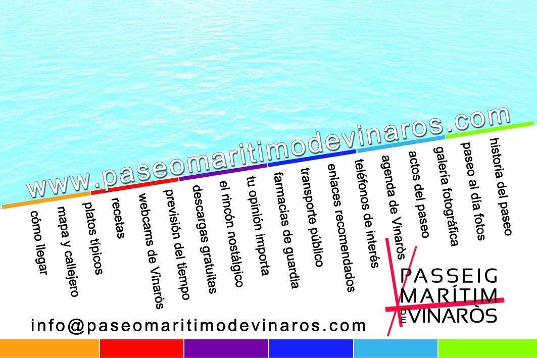 Passeig Marítim de Vinaròs  tarjeta 85x55_2 caraA